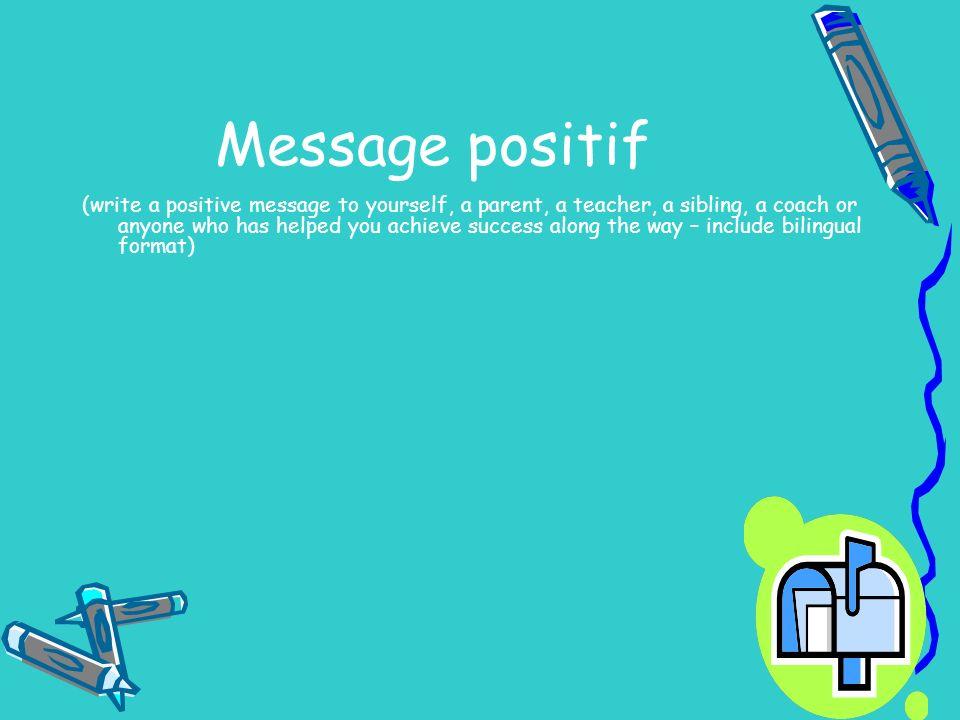 Message positif