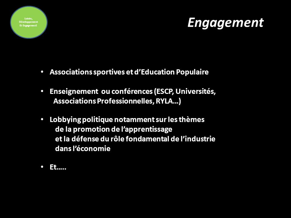 Engagement Associations sportives et d'Education Populaire