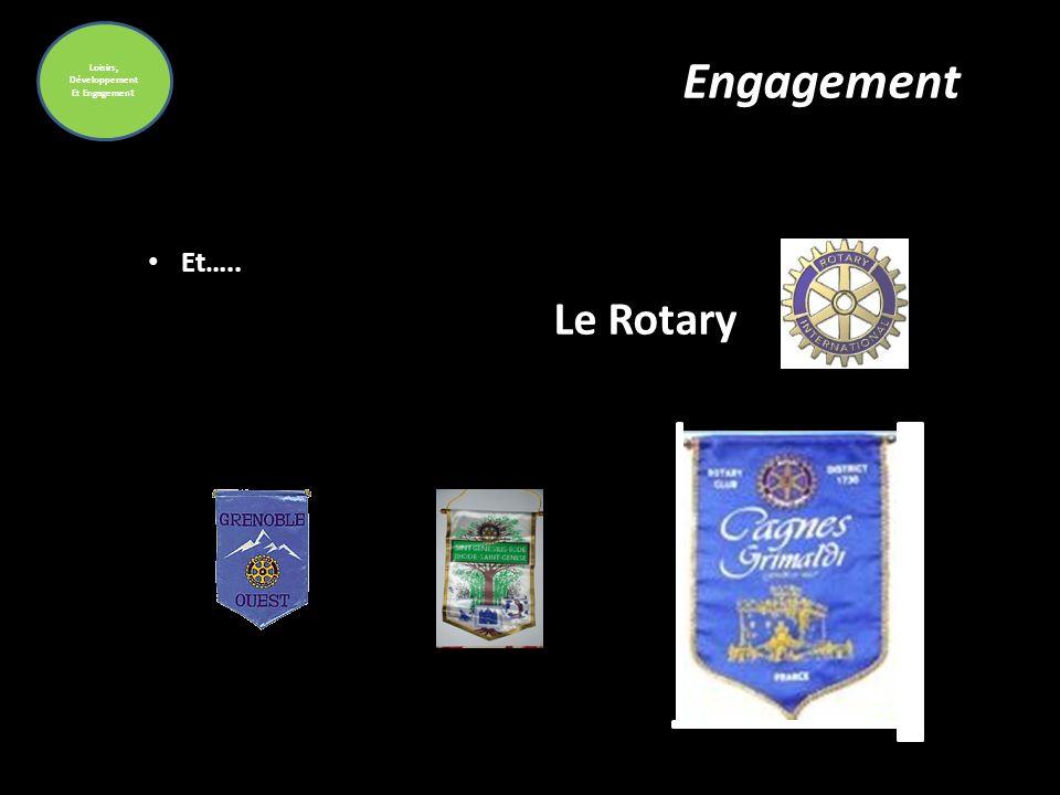 Loisirs, Développement Et Engagement Engagement Et….. Le Rotary