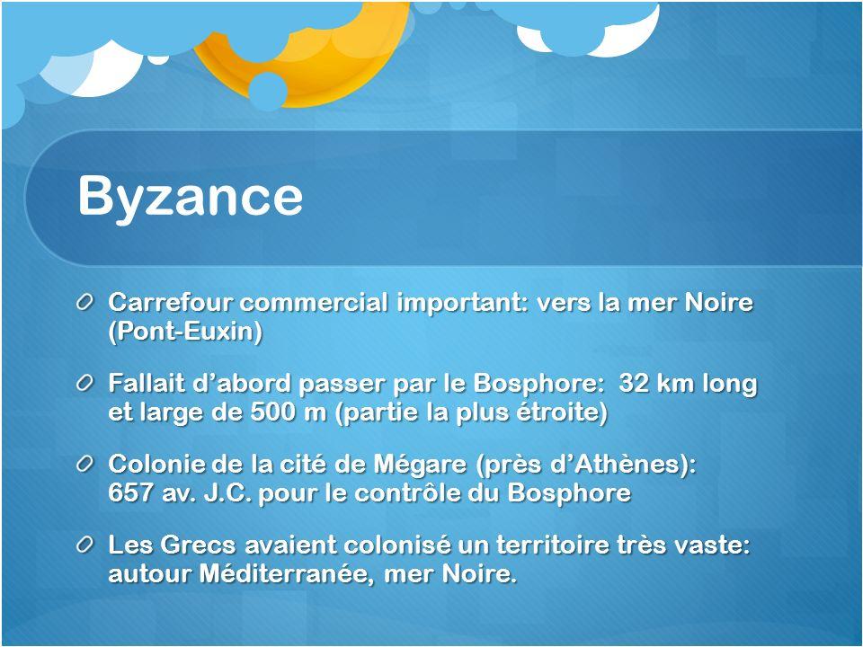 Byzance Carrefour commercial important: vers la mer Noire (Pont-Euxin)