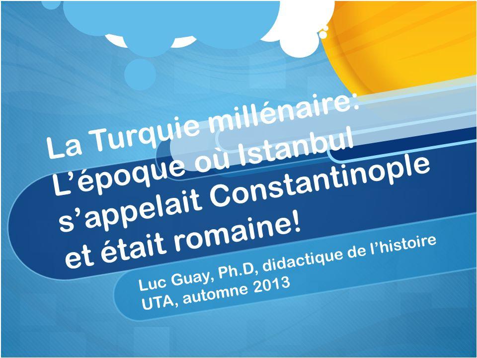 Luc Guay, Ph.D, didactique de l'histoire UTA, automne 2013