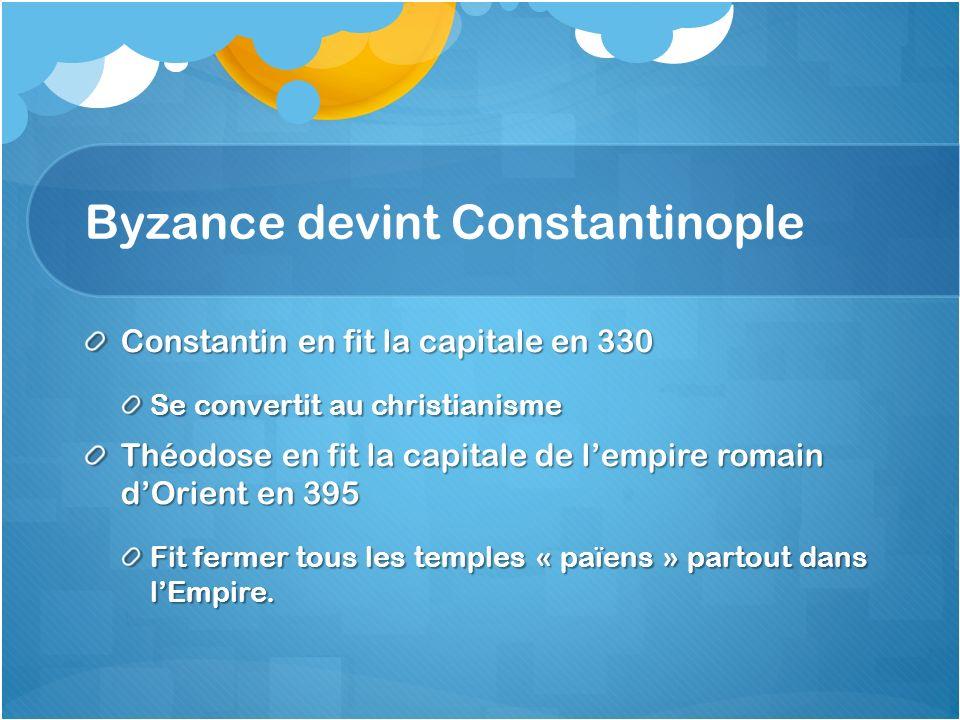 Byzance devint Constantinople