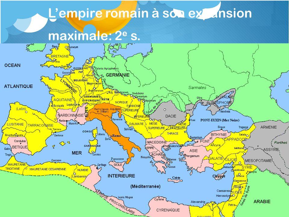 L'empire romain à son expansion maximale: 2e s.