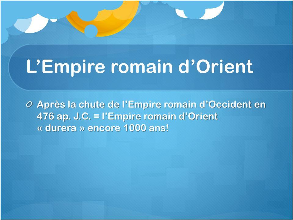 L'Empire romain d'Orient