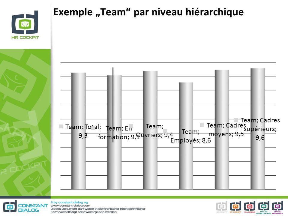 """Exemple """"Team par niveau hiérarchique"""
