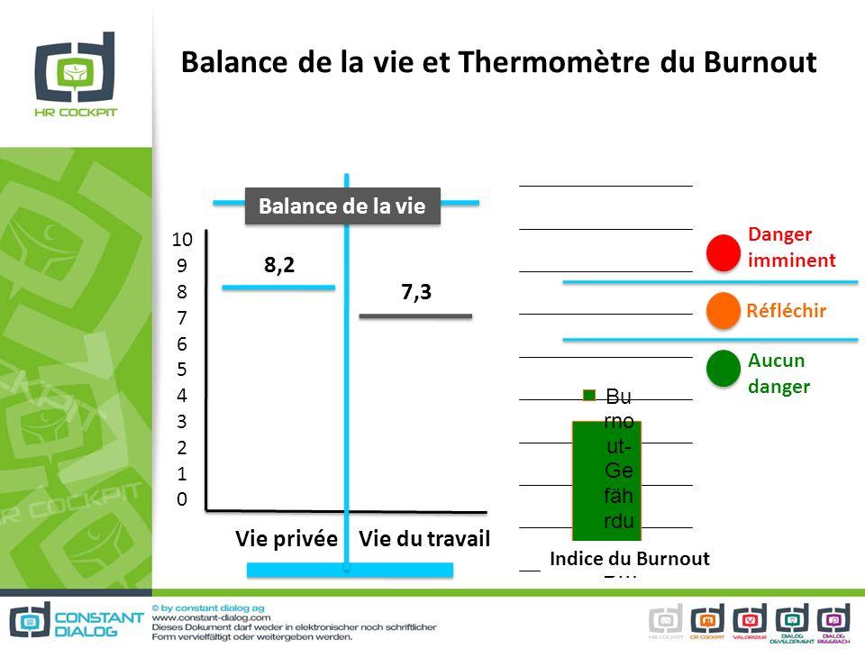 Balance de la vie et Thermomètre du Burnout