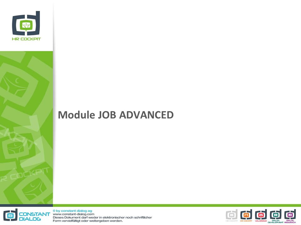 Module JOB ADVANCED