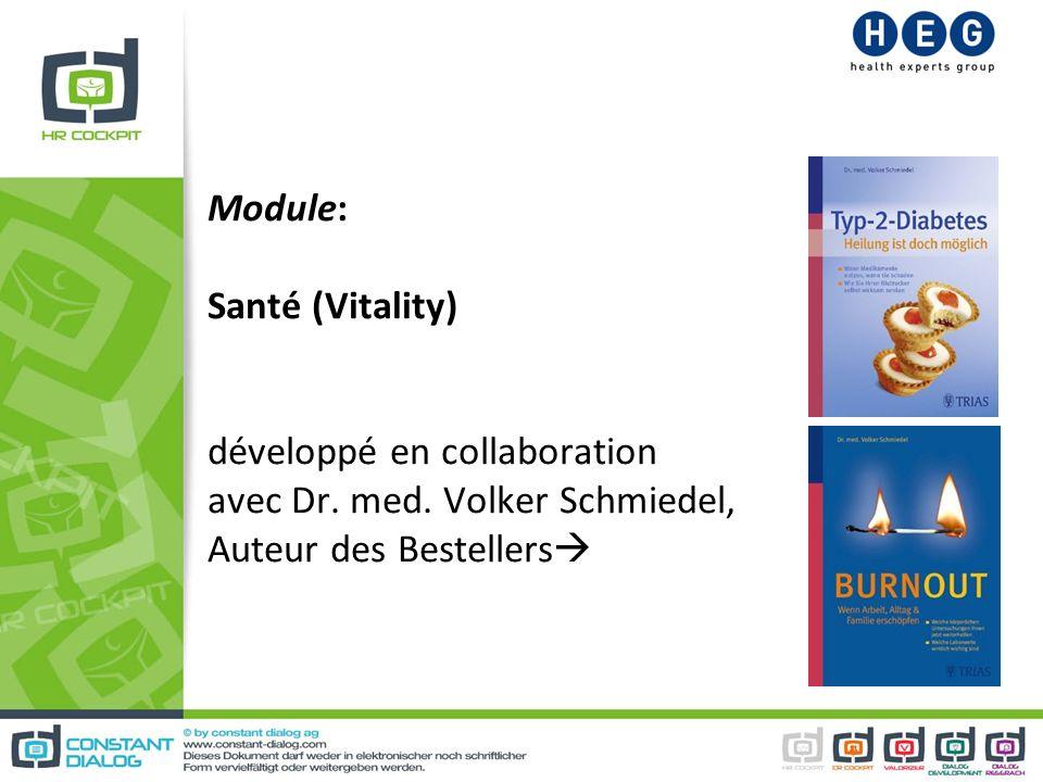 Module: Santé (Vitality) développé en collaboration avec Dr. med