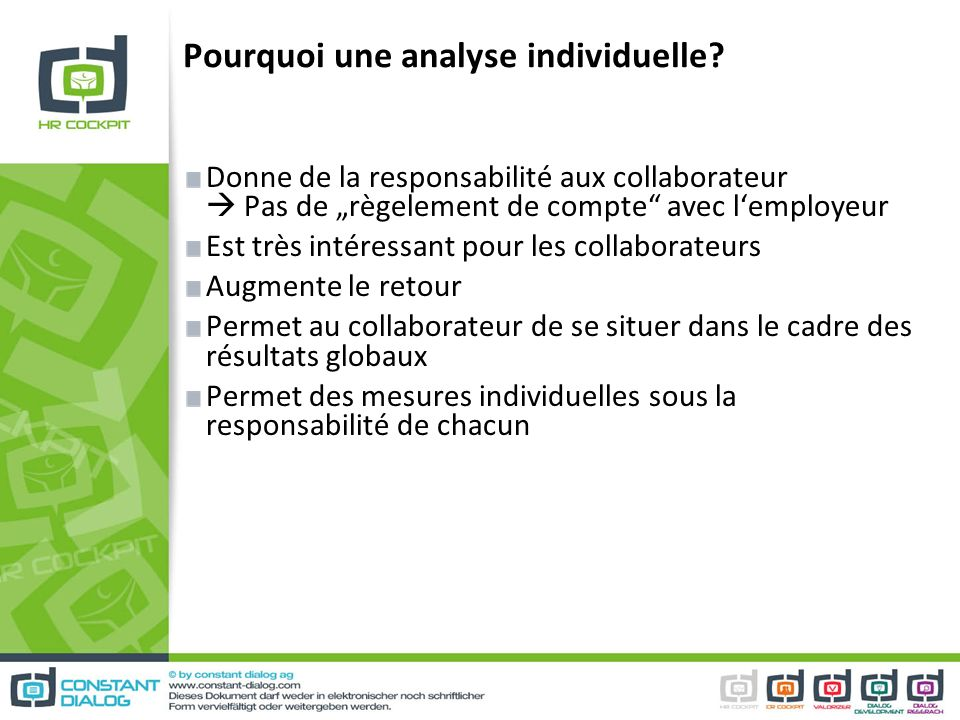 Pourquoi une analyse individuelle