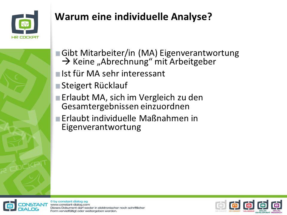 Warum eine individuelle Analyse