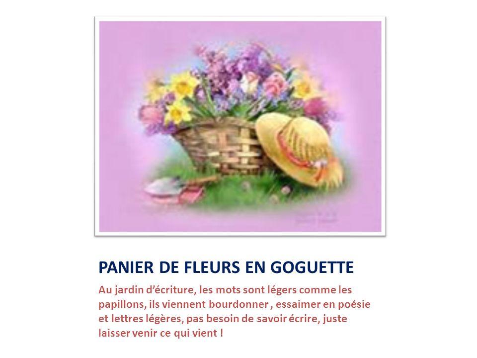 PANIER DE FLEURS EN GOGUETTE