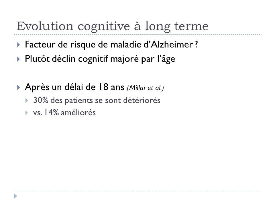 Evolution cognitive à long terme