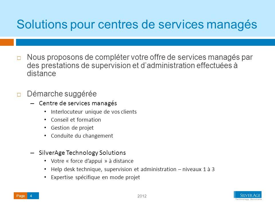 Solutions pour centres de services managés