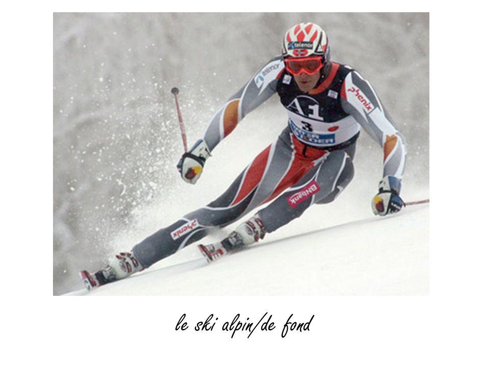 le ski alpin/de fond