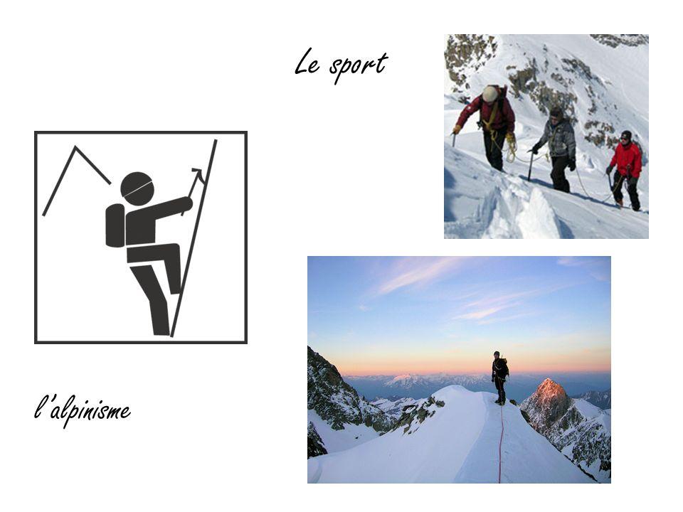 Le sport l'alpinisme