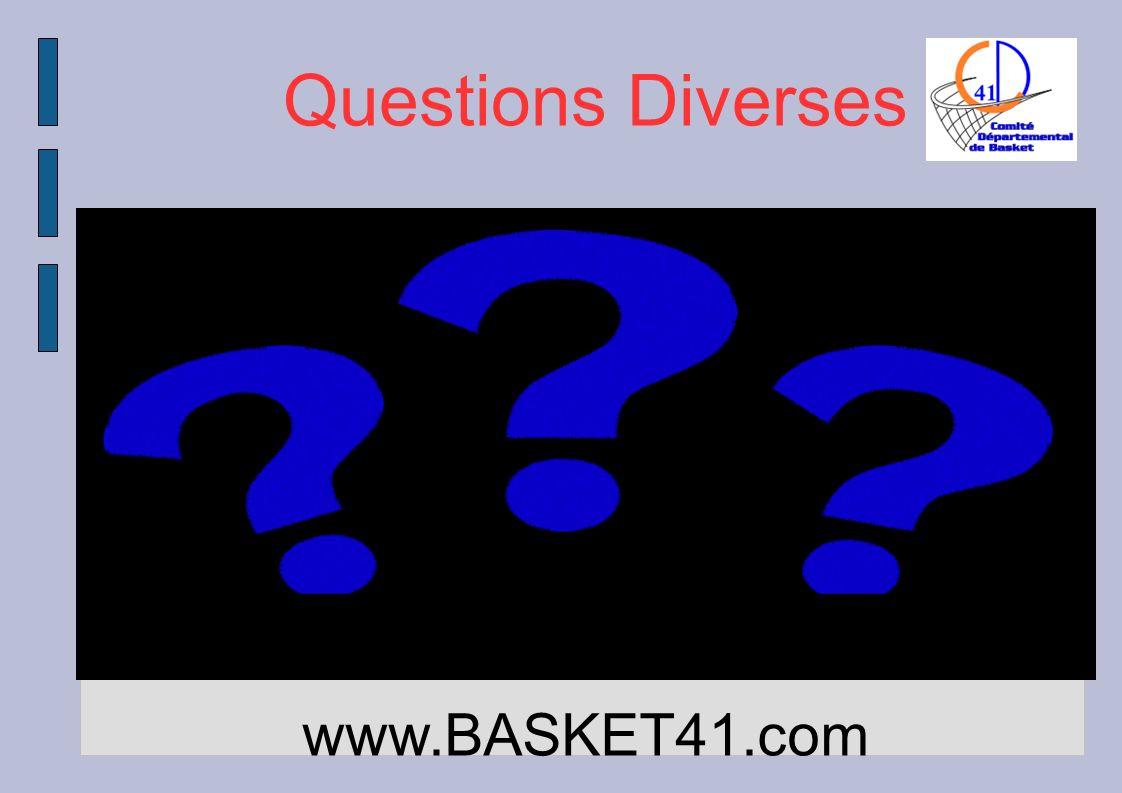 Questions Diverses www.BASKET41.com