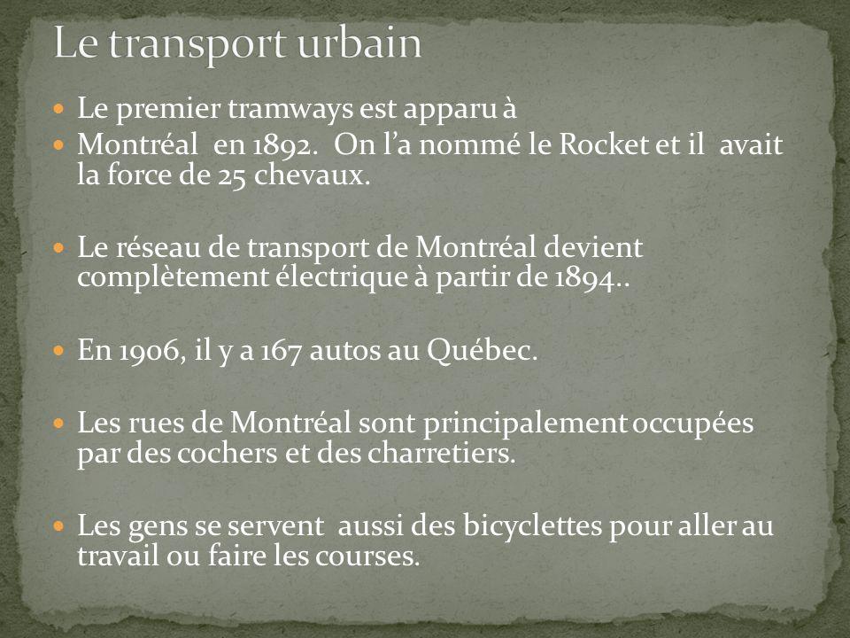 Le transport urbain Le premier tramways est apparu à