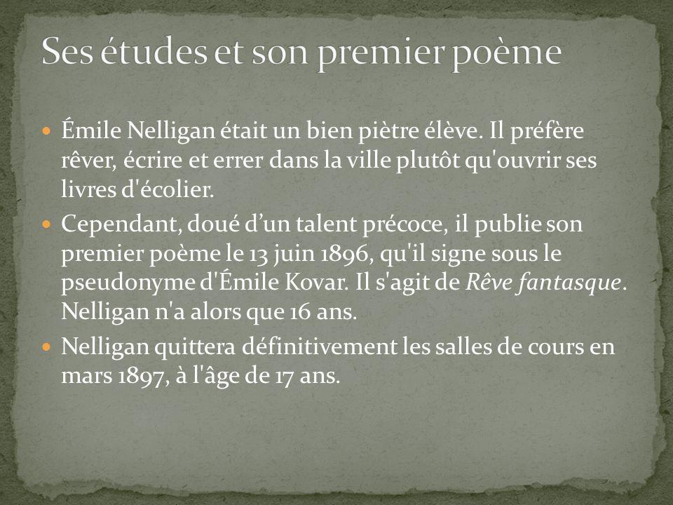 Ses études et son premier poème