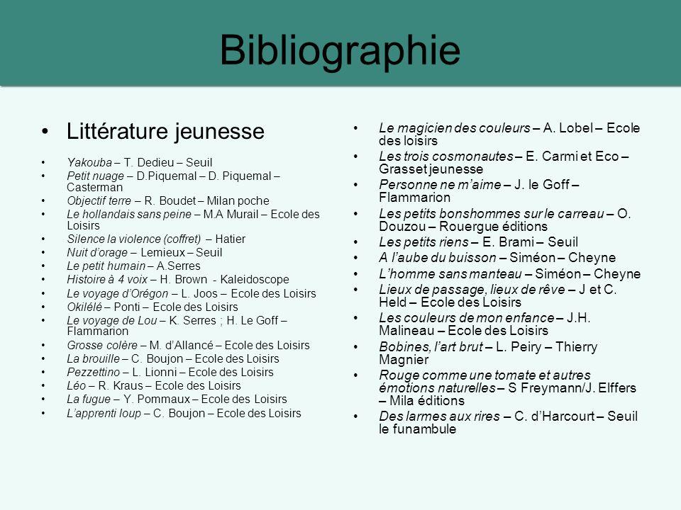 Bibliographie Littérature jeunesse