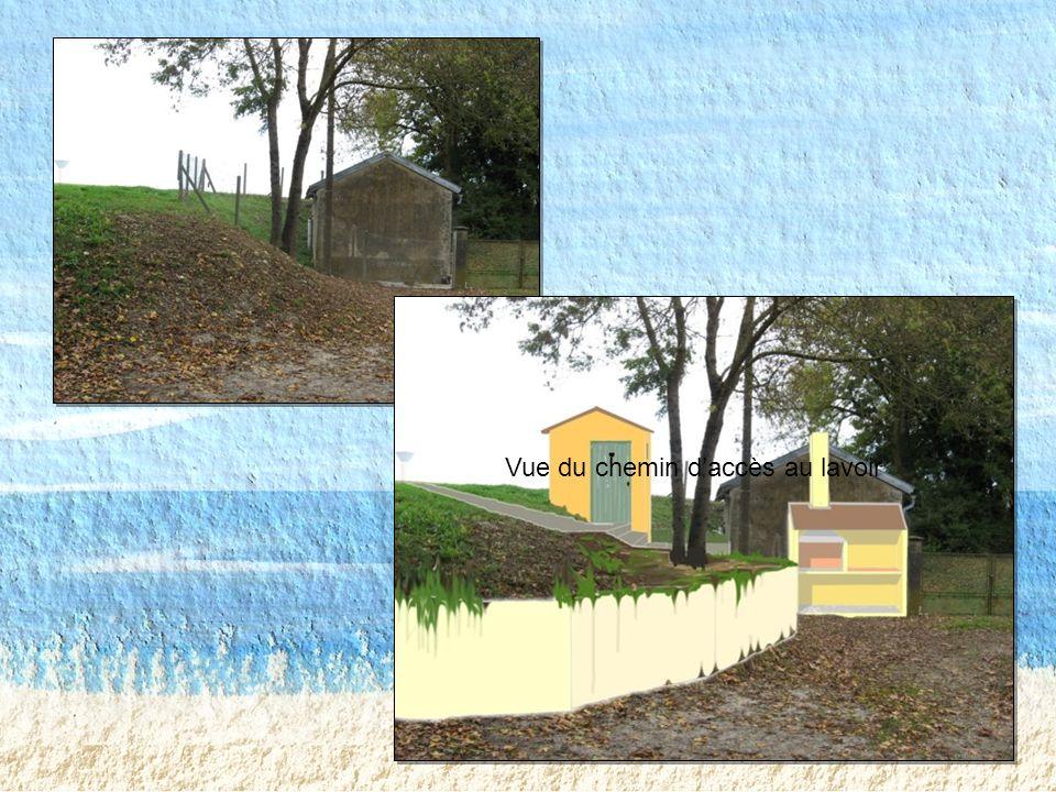 Vue du chemin d'accès au lavoir