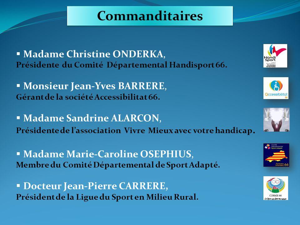 Commanditaires Madame Christine ONDERKA, Monsieur Jean-Yves BARRERE,