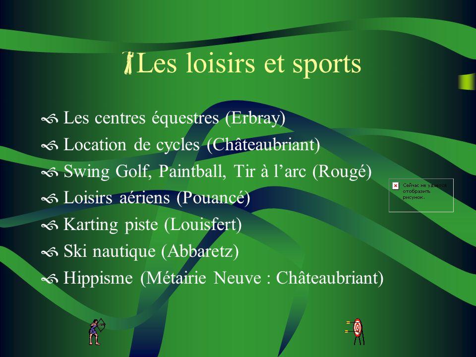 Les loisirs et sports Les centres équestres (Erbray)