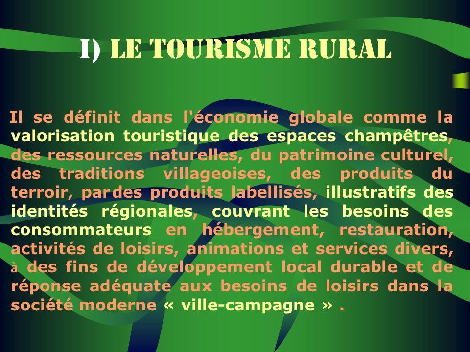 I) LE TOURISME RURAL