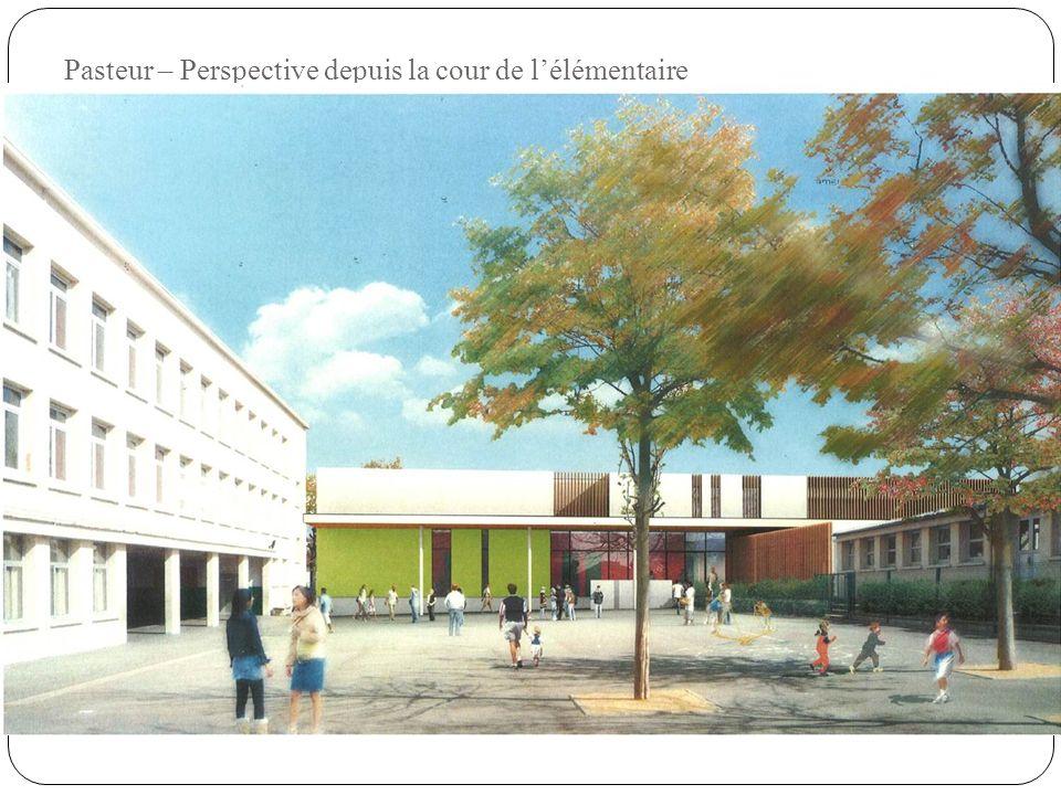 Pasteur – Perspective depuis la cour de l'élémentaire