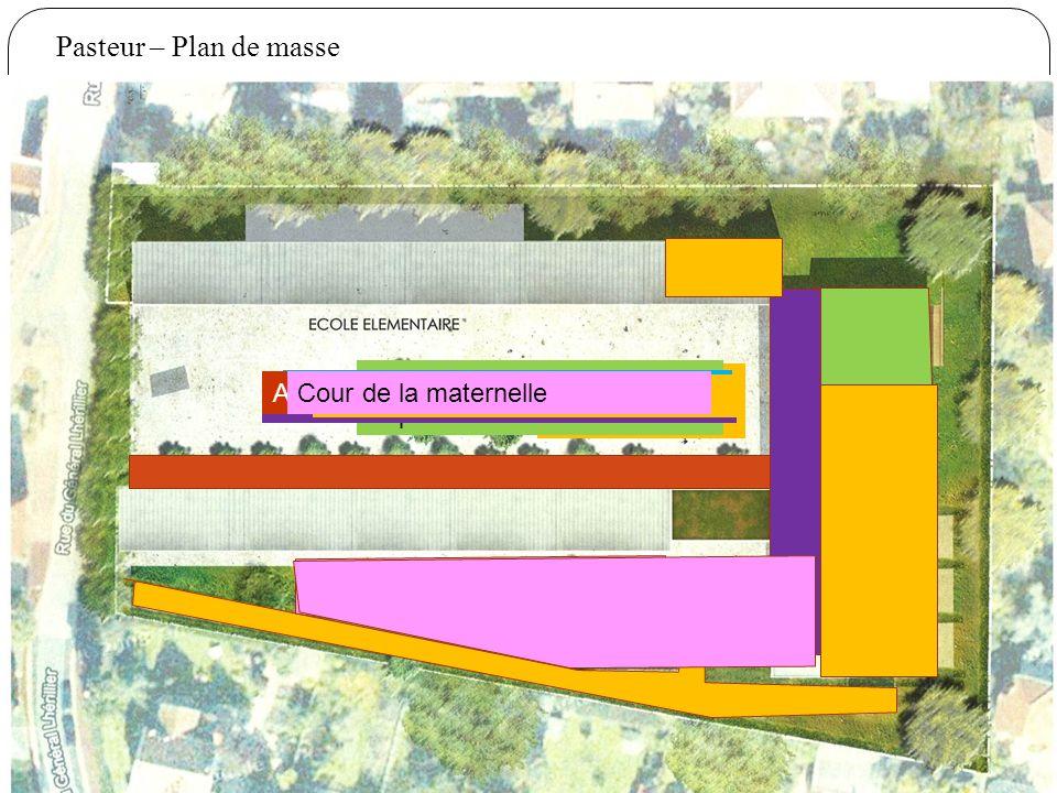Pasteur – Plan de masse Salle polyvalente Espaces communs