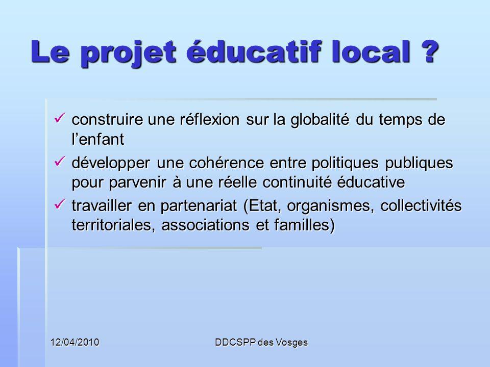 Le projet éducatif local