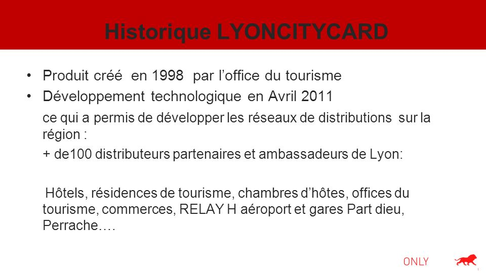 Historique LYONCITYCARD