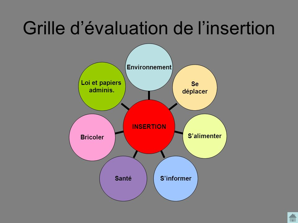 Grille d'évaluation de l'insertion