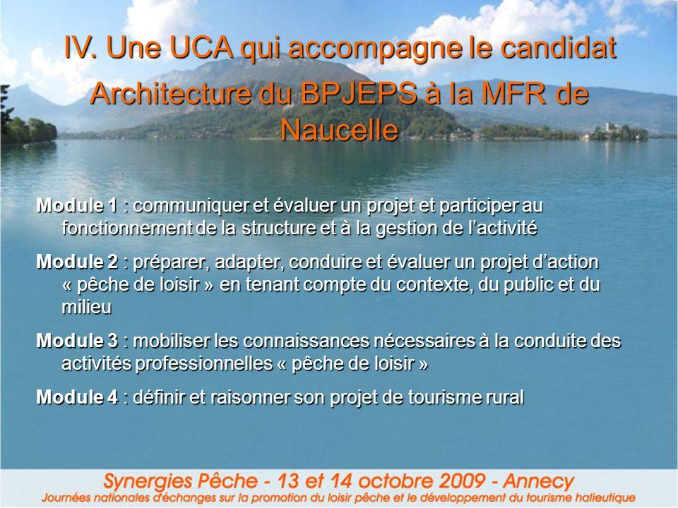 Architecture du BPJEPS à la MFR de Naucelle
