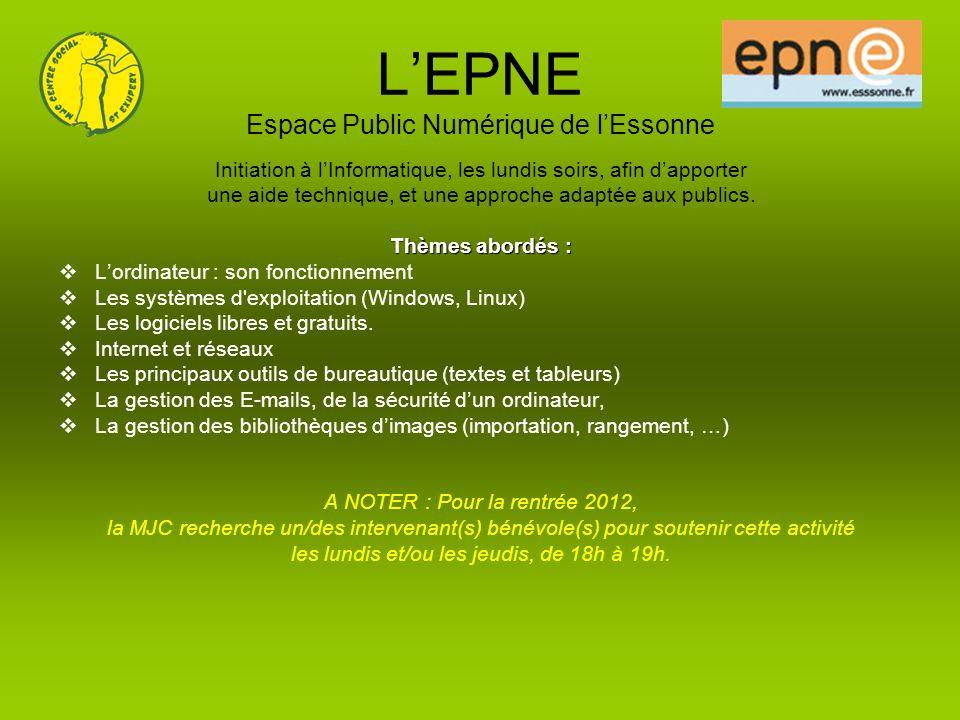 L'EPNE Espace Public Numérique de l'Essonne
