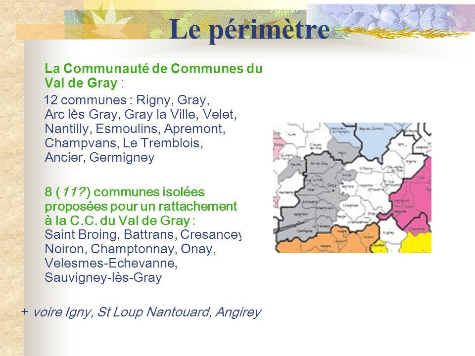 Le périmètre La Communauté de Communes du Val de Gray :