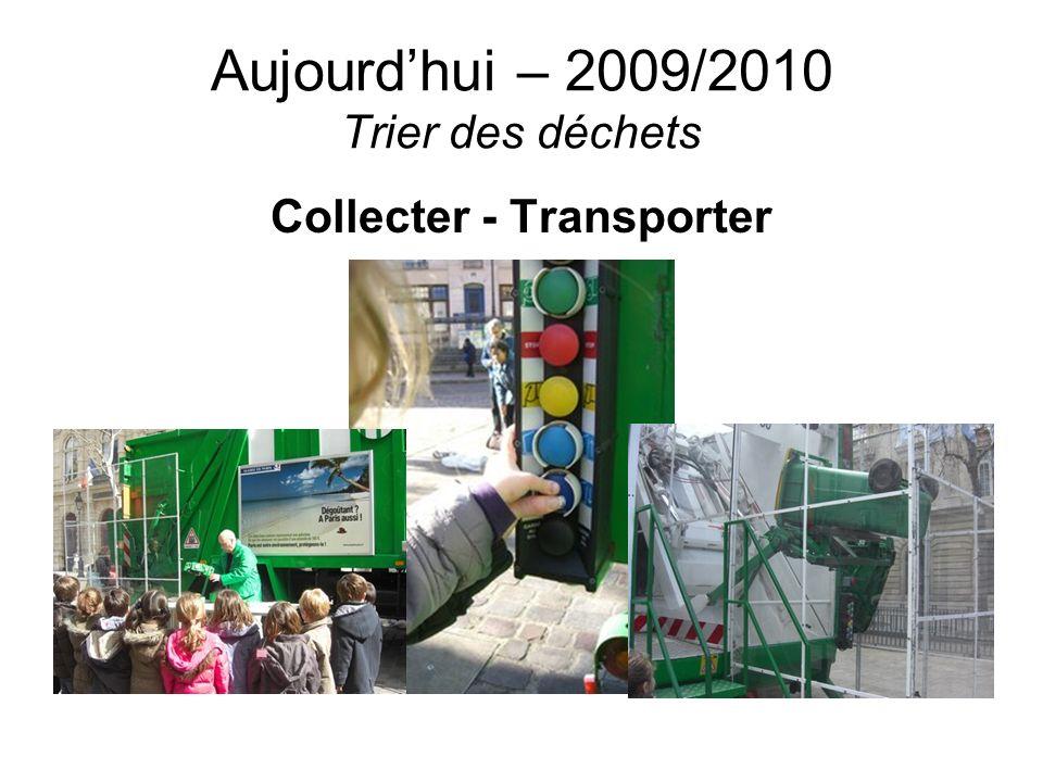 Aujourd'hui – 2009/2010 Trier des déchets