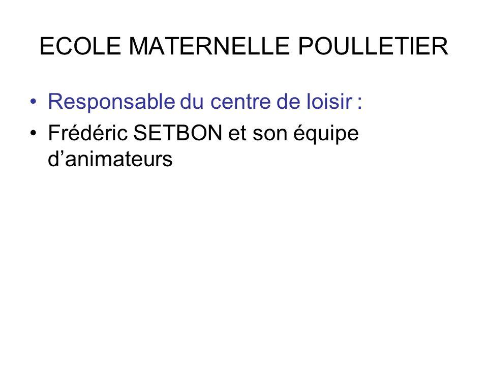 ECOLE MATERNELLE POULLETIER
