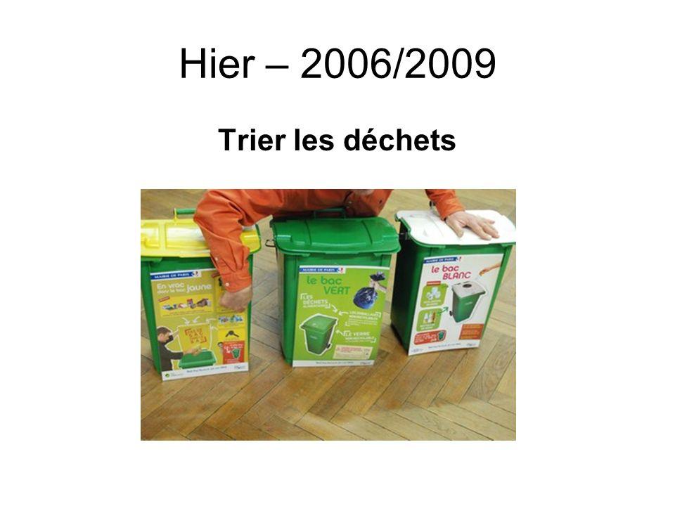 Hier – 2006/2009 Trier les déchets