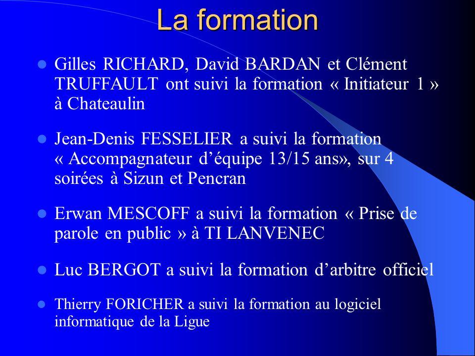 La formation Gilles RICHARD, David BARDAN et Clément TRUFFAULT ont suivi la formation « Initiateur 1 » à Chateaulin.