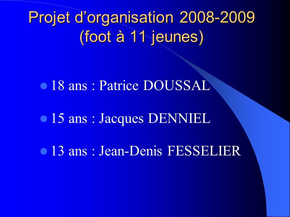 Projet d'organisation 2008-2009 (foot à 11 jeunes)