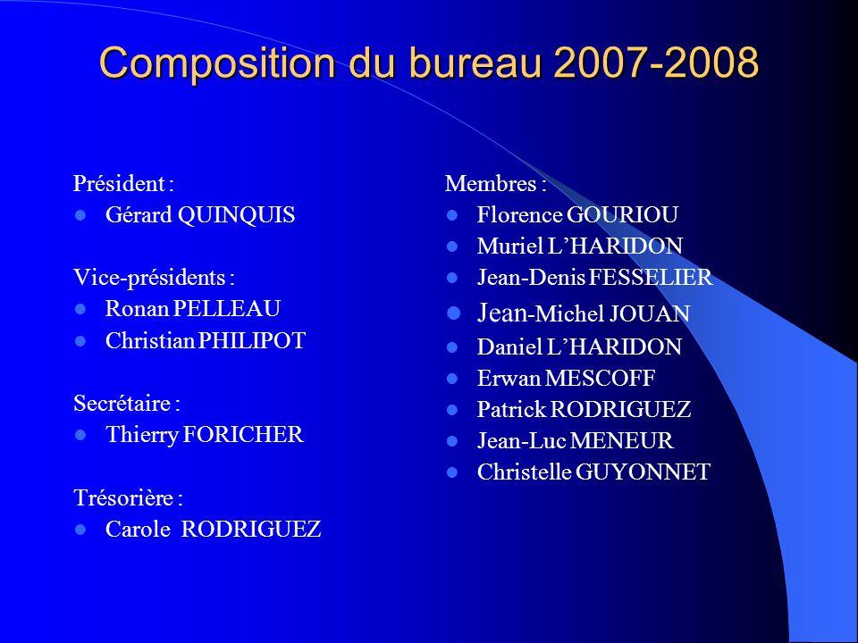 Composition du bureau 2007-2008