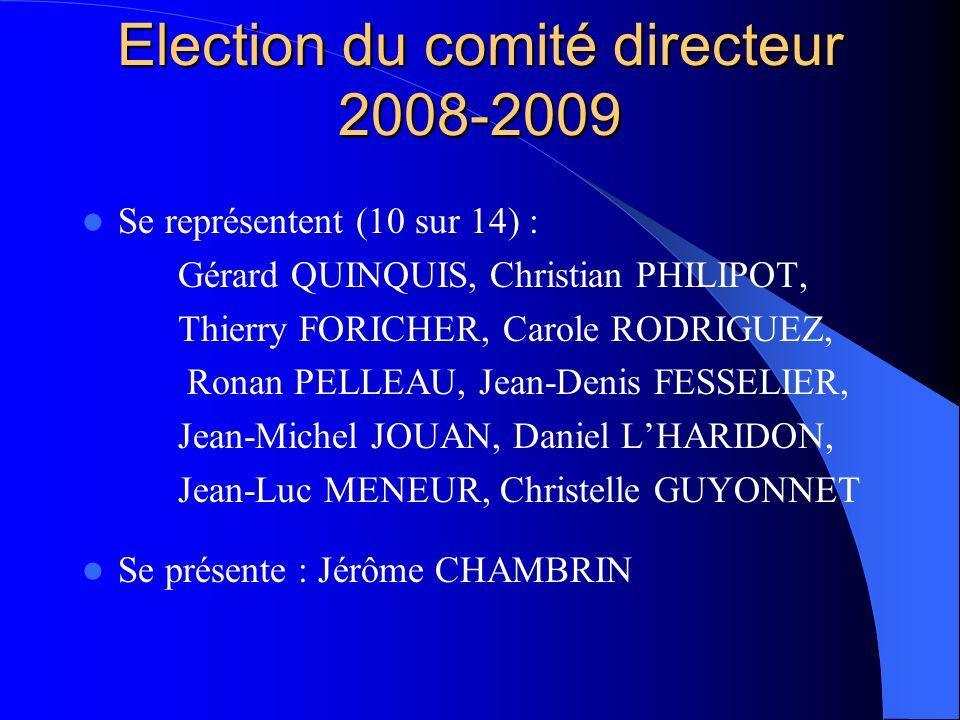 Election du comité directeur 2008-2009
