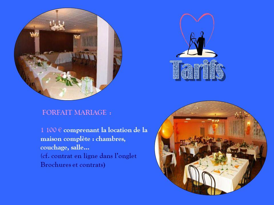 Tarifs FORFAIT MARIAGE :