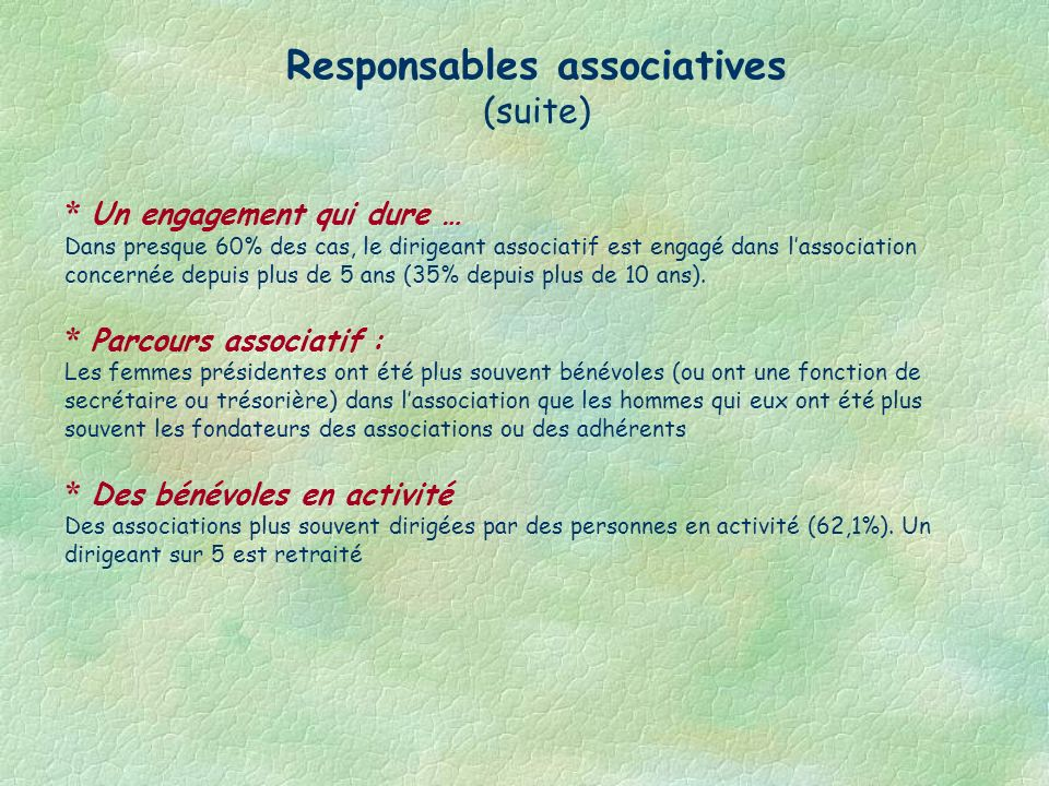 Responsables associatives
