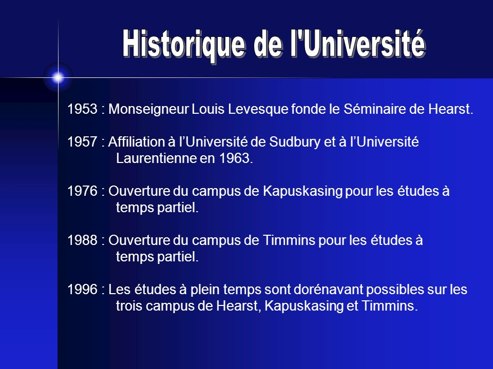Historique de l Université