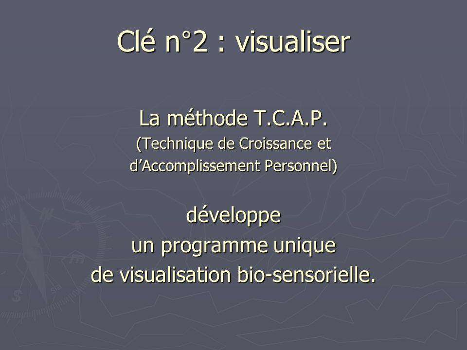 Clé n°2 : visualiser La méthode T.C.A.P. développe un programme unique