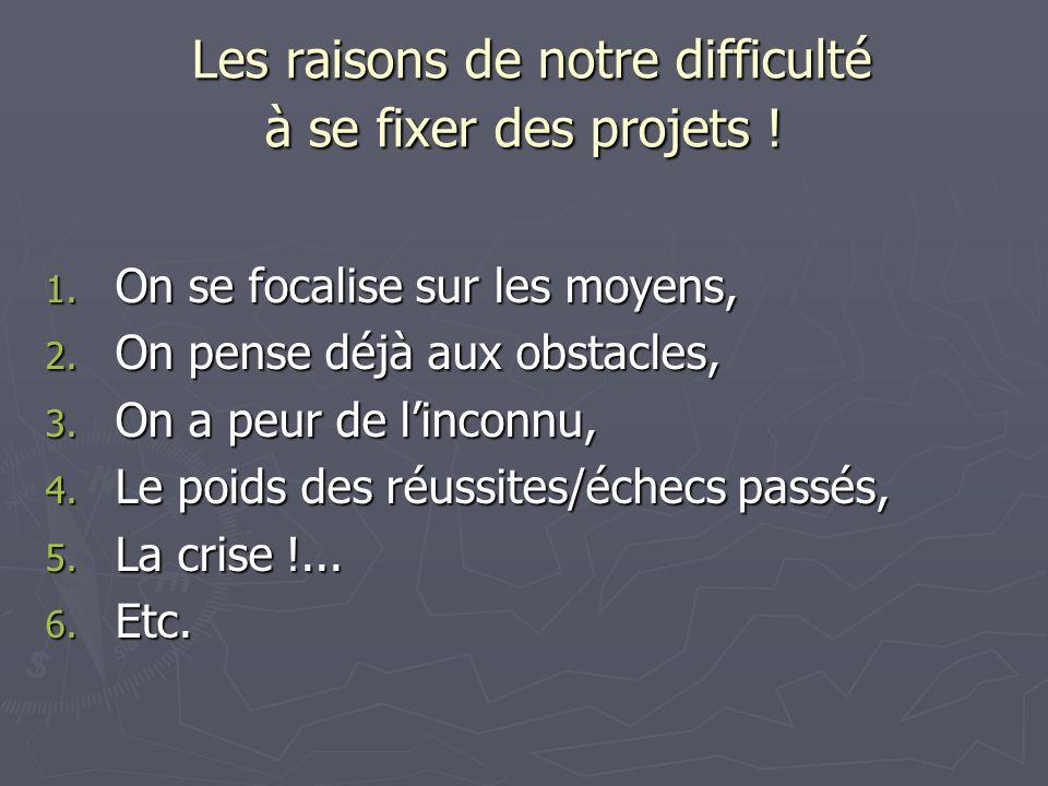 Les raisons de notre difficulté à se fixer des projets !