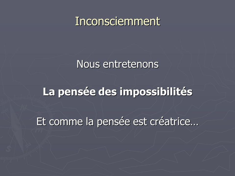 La pensée des impossibilités
