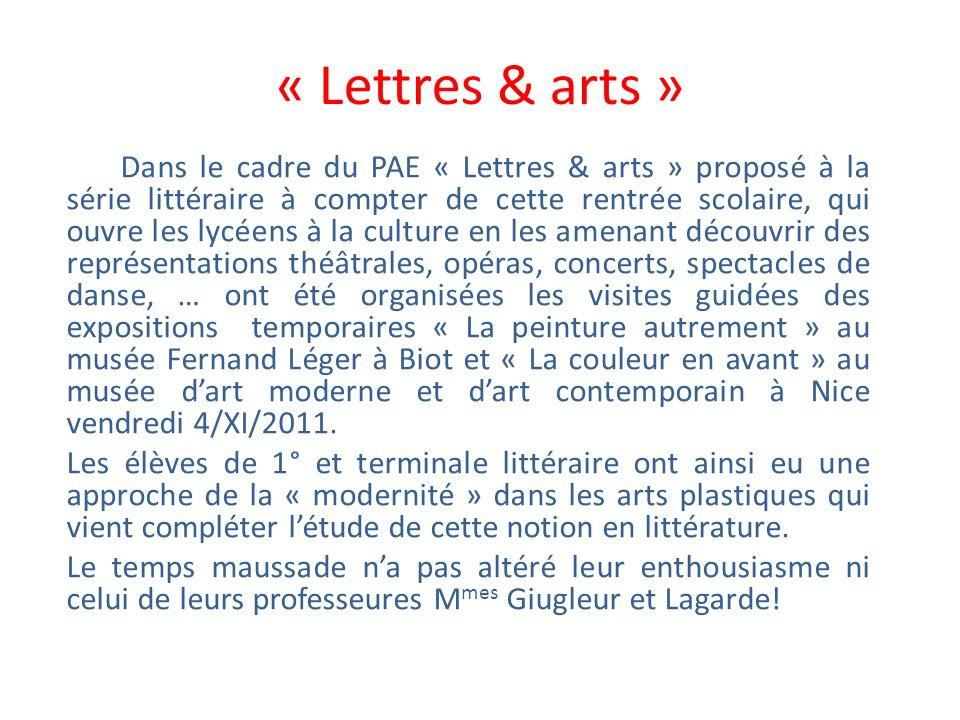 « Lettres & arts »