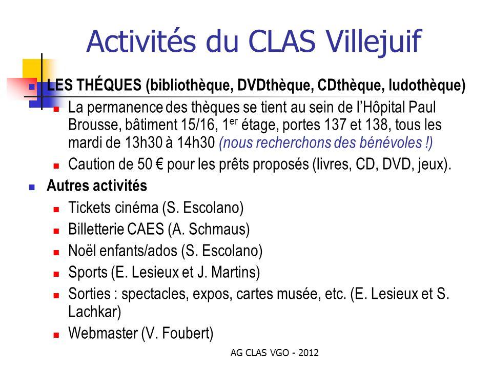 Activités du CLAS Villejuif